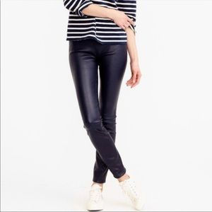 J. Crew Black Faux Leather Skinny Pants Size 26